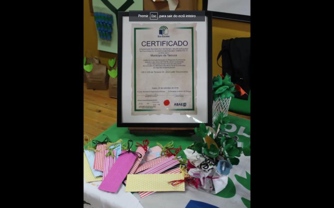 Agrupamento de Escolas de Tarouca com o hastear da bandeira verde