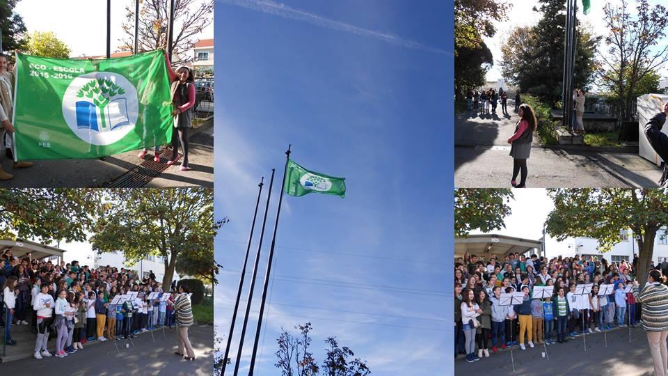Escola Básica de Custóias hastea a bandeira verde