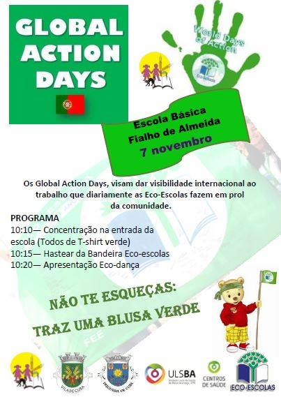 Agrupamento de Escolas de Cuba has commemorated the Global Action Day, last Monday the 7th of November.