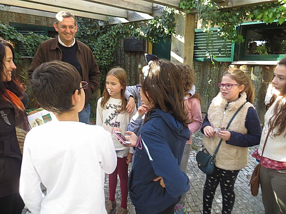 Escola Básica e Secundária de Ourém fizeram uma visita à Mata Municipal de Ourém