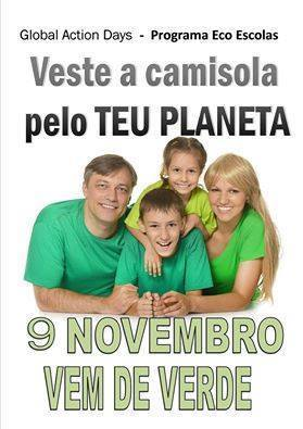 Centro de Apoio Familiar Pinto de Carvalho all wore a green T-shirt.