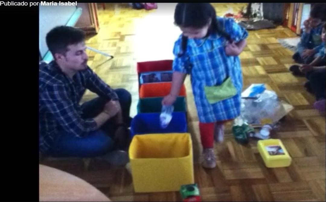 Alunos do Jardim de Infância do Meiral – Turma 9, assistiram a uma separação de resíduos