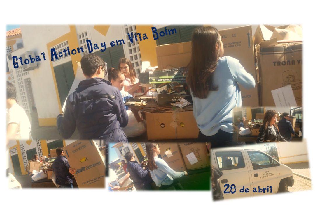 Recolha seletiva de resíduos na área de residência dos alunos da freguesia de São Vicente e Ventosa