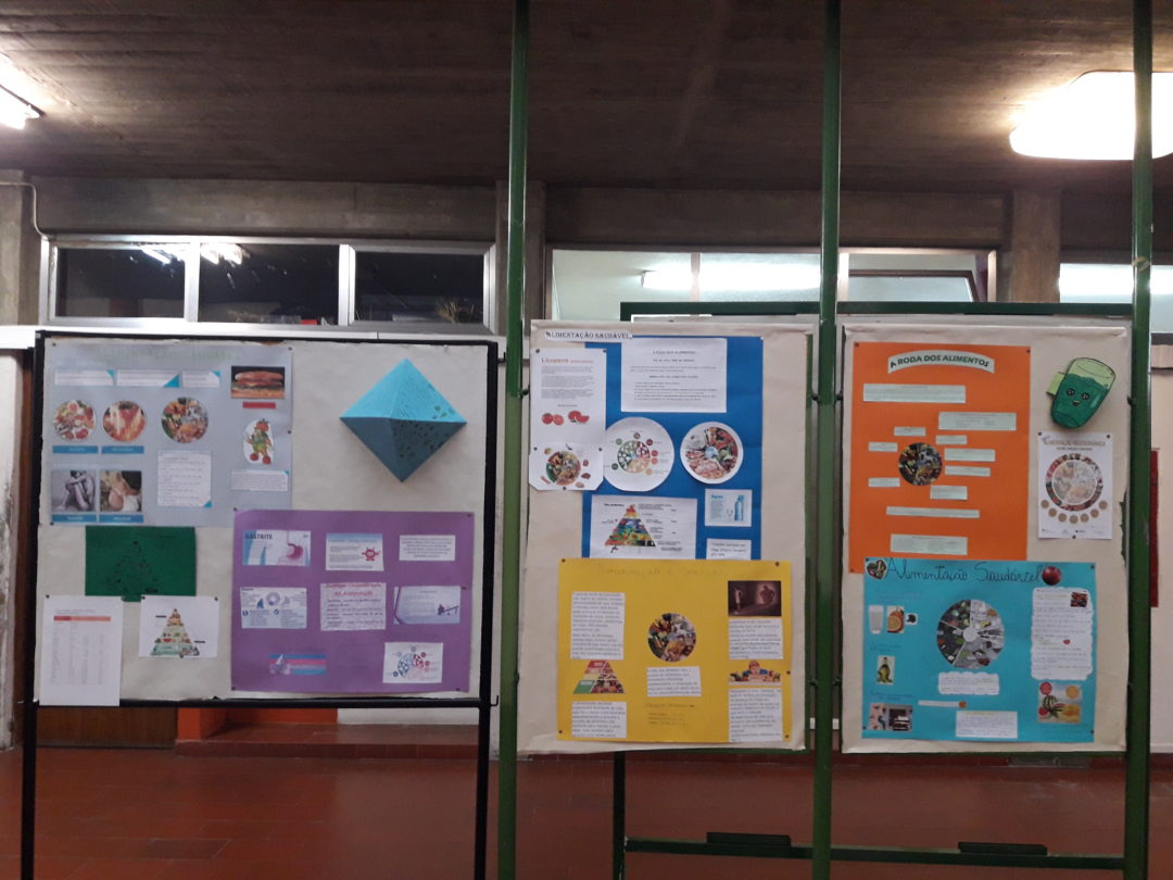 Global Action Days-Alimentação saudável e sustentável;Limpeza dos espaços exteriores da escola.