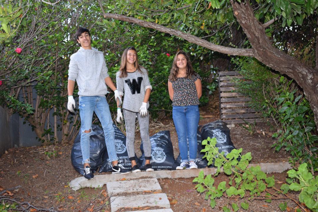Limpeza dos jardins envolventes à EBSLMSD