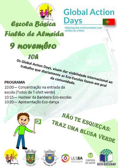GAD – Hastear da bandeira verde na Escola Básica Fialho de Almeida de Cuba