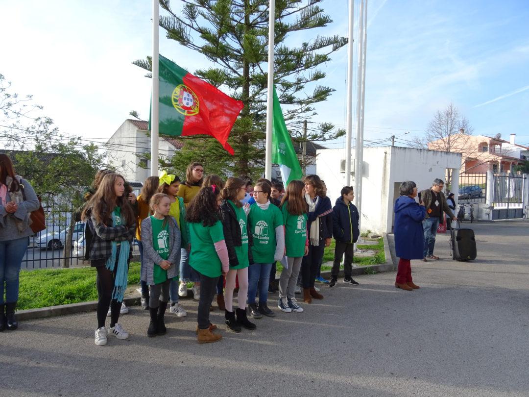 Cerimónia do hastear da bandeira