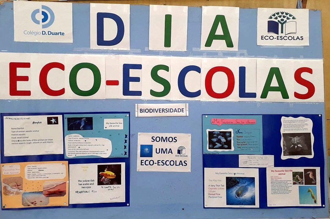 Exposição Dia Eco-escolas, com comemoração do Dia da Terra e dos GADs