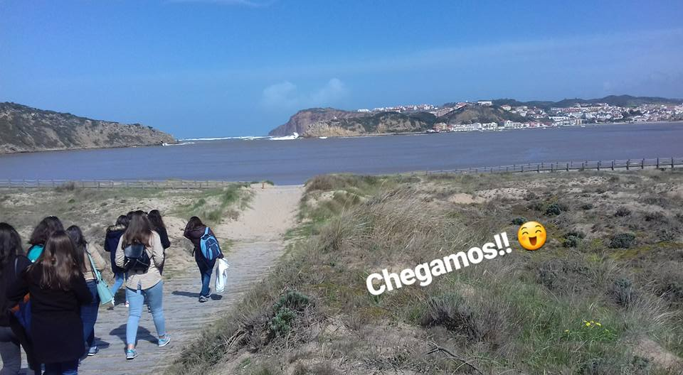 Recolha de lixo na praia de São Martinho do Porto