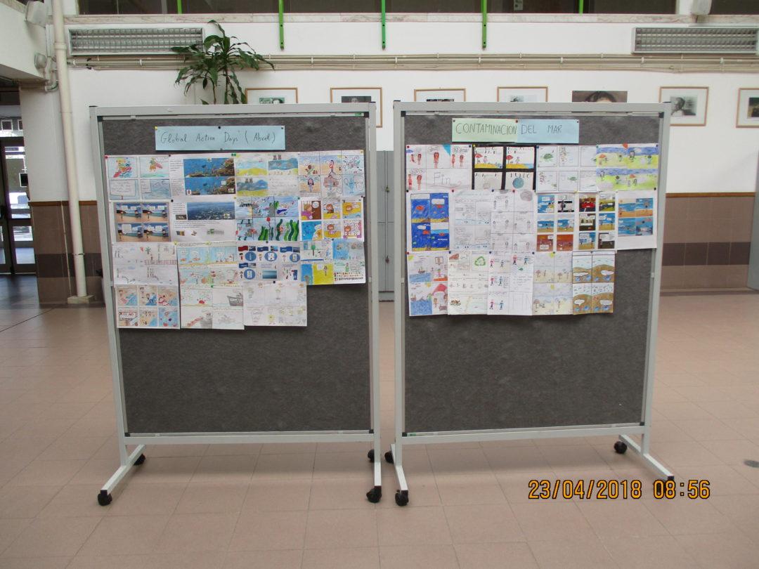 Exhibição de BD sobre os Fogos Florestais e sobre a Poluição do Mar