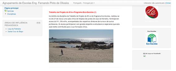 Ação cívica de limpeza da praia de Leça da Palmeira