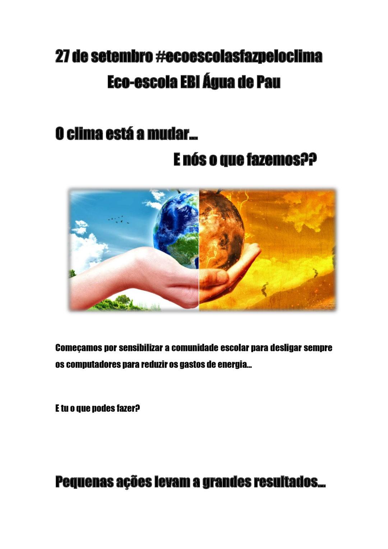 Alerta global para o clima na EBI de Água de Pau