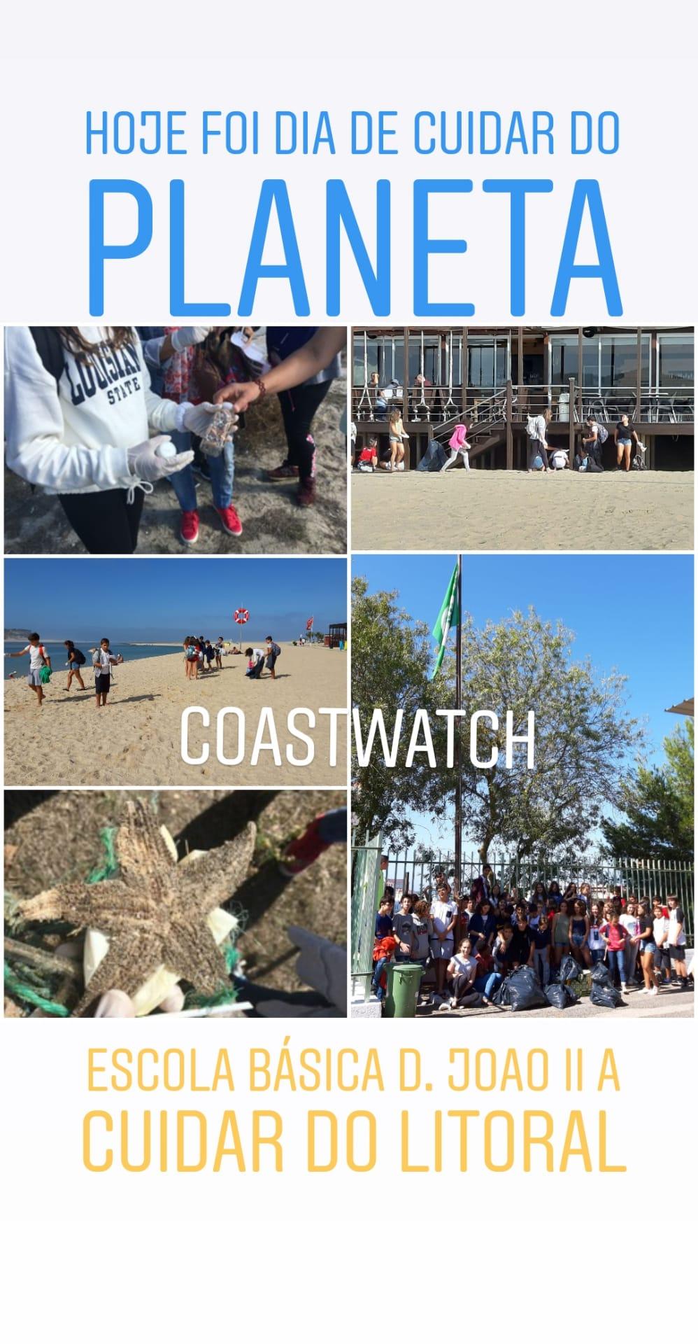 Global Action Days comemorado na Escola Básica D. João II, Caldas da Rainha com observação do litoral e recolha de resíduos.