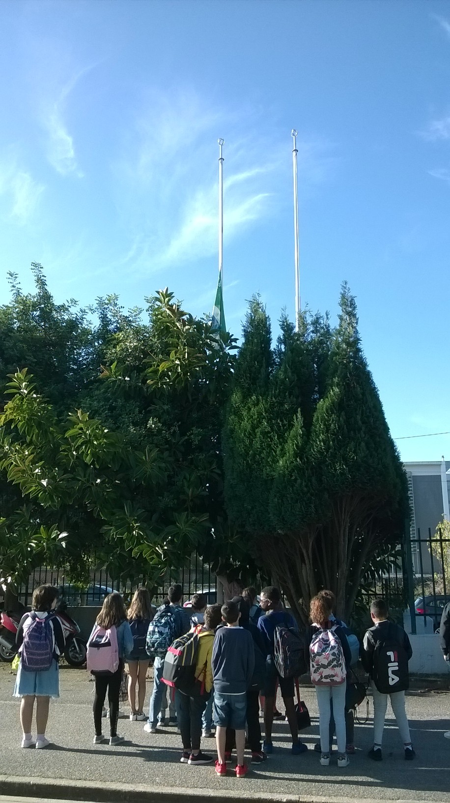 Bandeira Verde Eco-Escolas a meia haste – Greve Climática Global