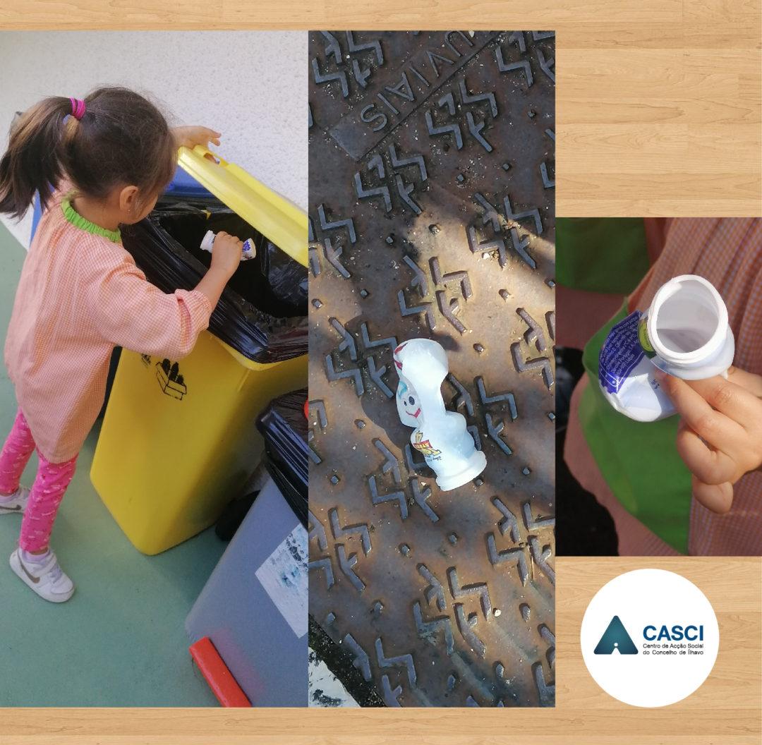Eco-ação de limpeza das crianças do CASCI
