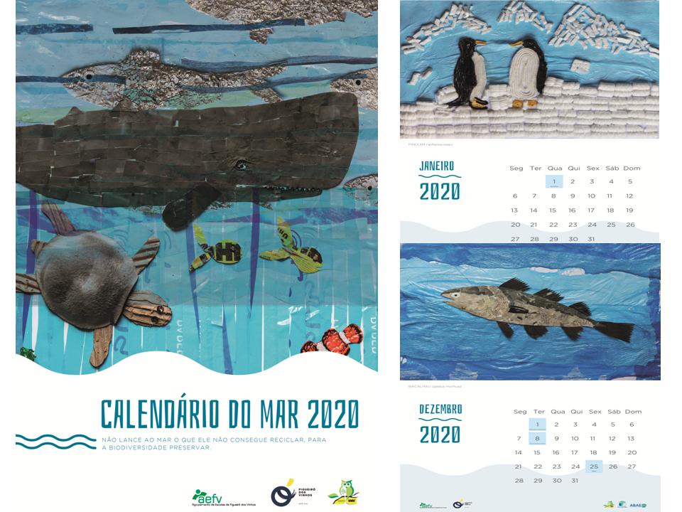 Calendário do Mar 2020