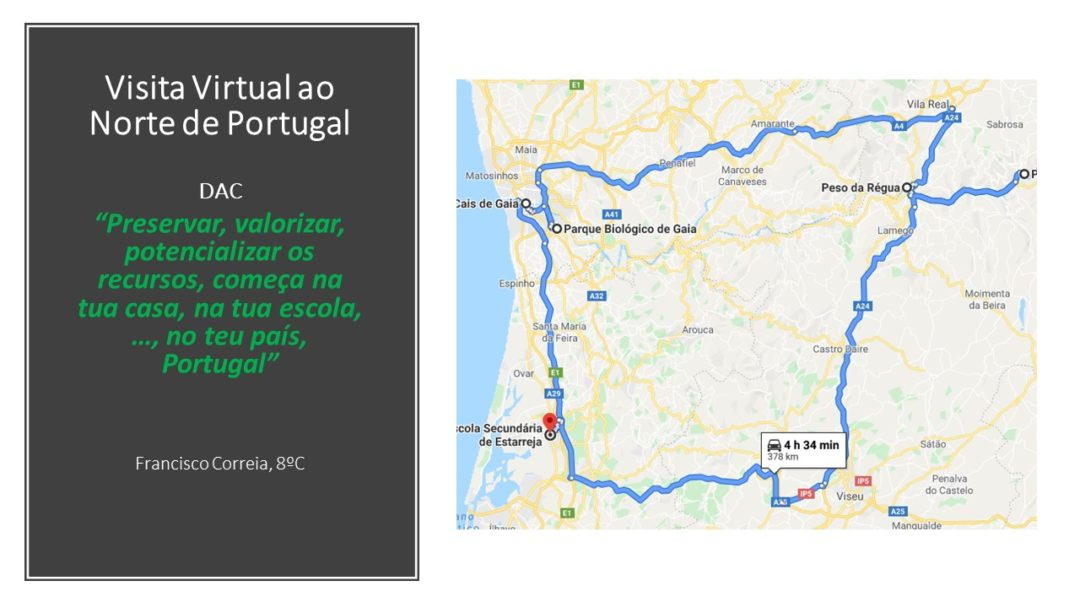 SEMANA ECO VIRTUAL – DESAFIO VISITA VIRTUAL AO NORTE DE PORTUGAL