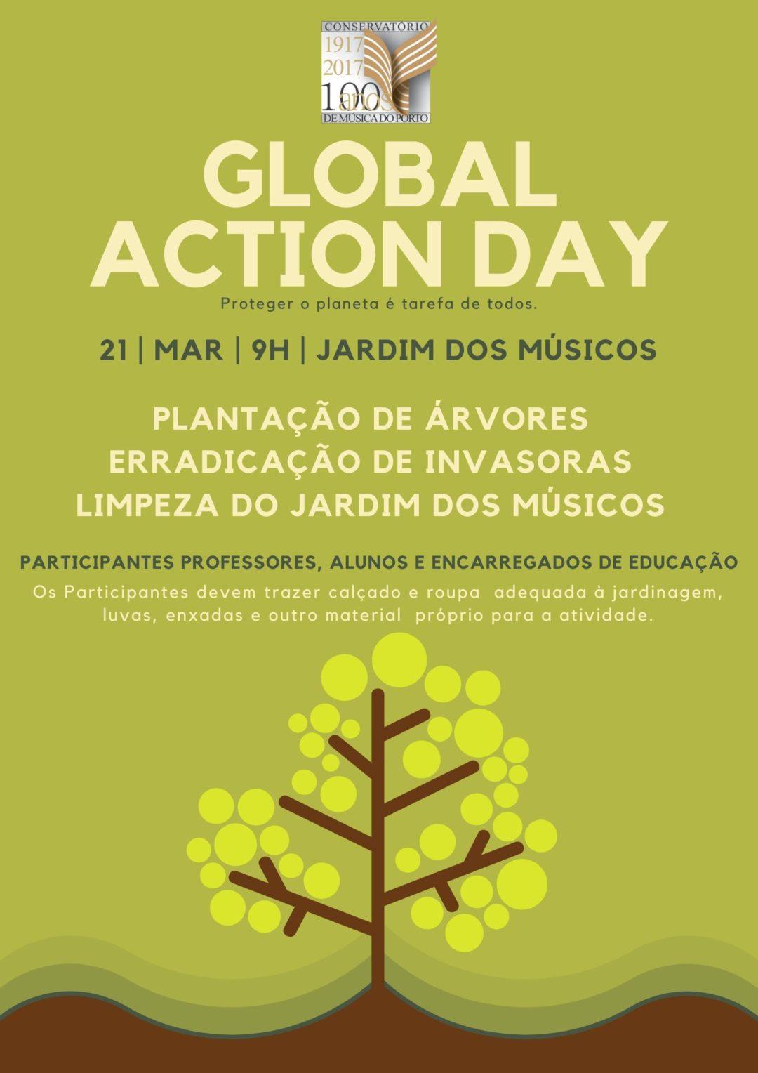 Ação de sensibilização para a sustentabilidade  e proteção de espaços verdes