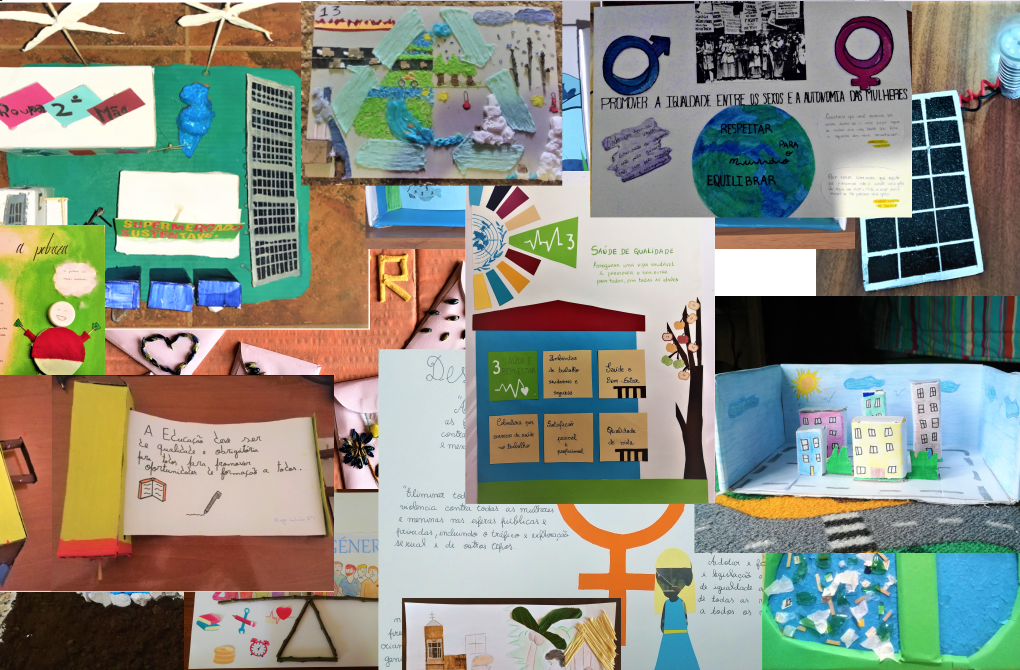 Collage sobre os Objetivos do desenvolvimento sustentável