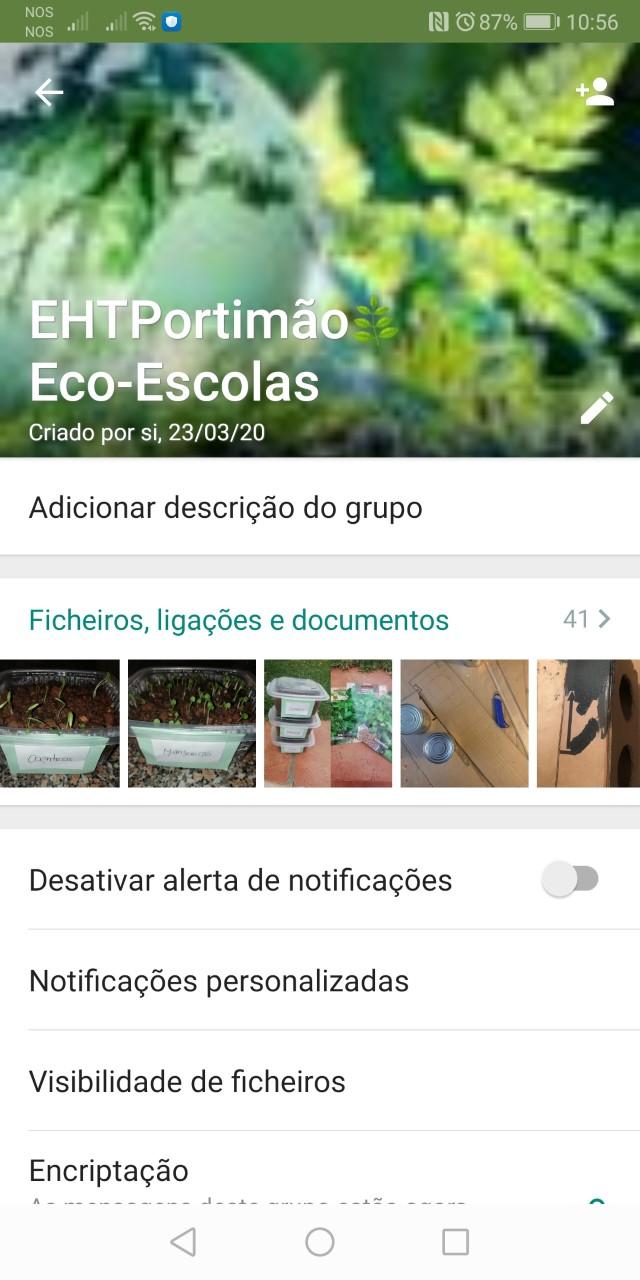 O grupo Eco-Escolas da EHT Portimão chegou ao WhatsApp!
