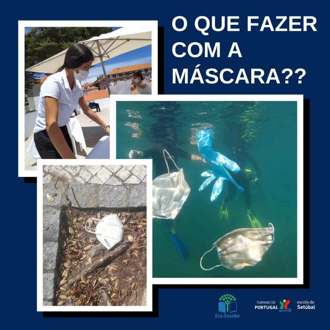 Campanha poluição máscaras Covid-19