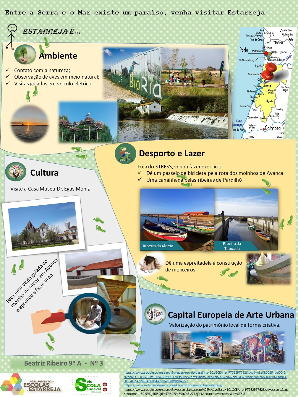 "GeoDesafio: ""Conheça a riqueza paisagística de Estarreja – Aveiro – Portugal"""